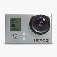 action camera gopro 3 3d model