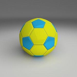 football foot ball 3d obj