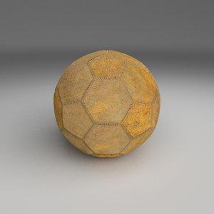 used football 3d obj