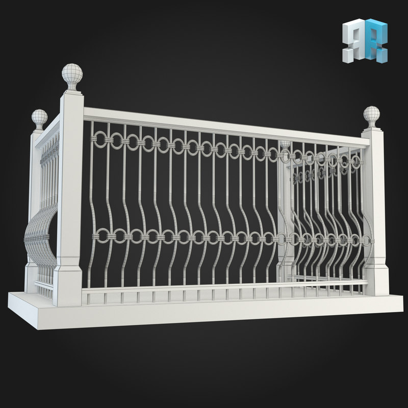 Balcony 3d model for Balcony models
