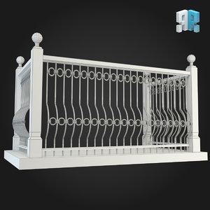 balcony 3d model