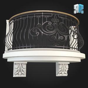 3d balcony model