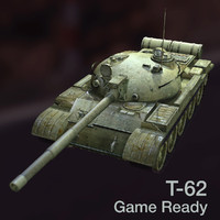 3d model t-62 soviet main battle tank