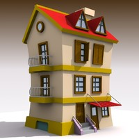 3d cartoon house 3