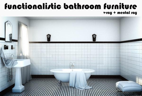 3dsmax bathroom set