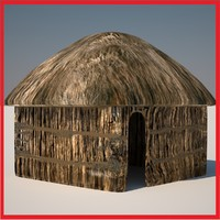 huts 4 3d model