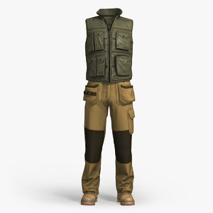 3d model workwear clothing