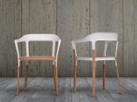 Erwan & Ronan Bouroullec Steel Wood Chair