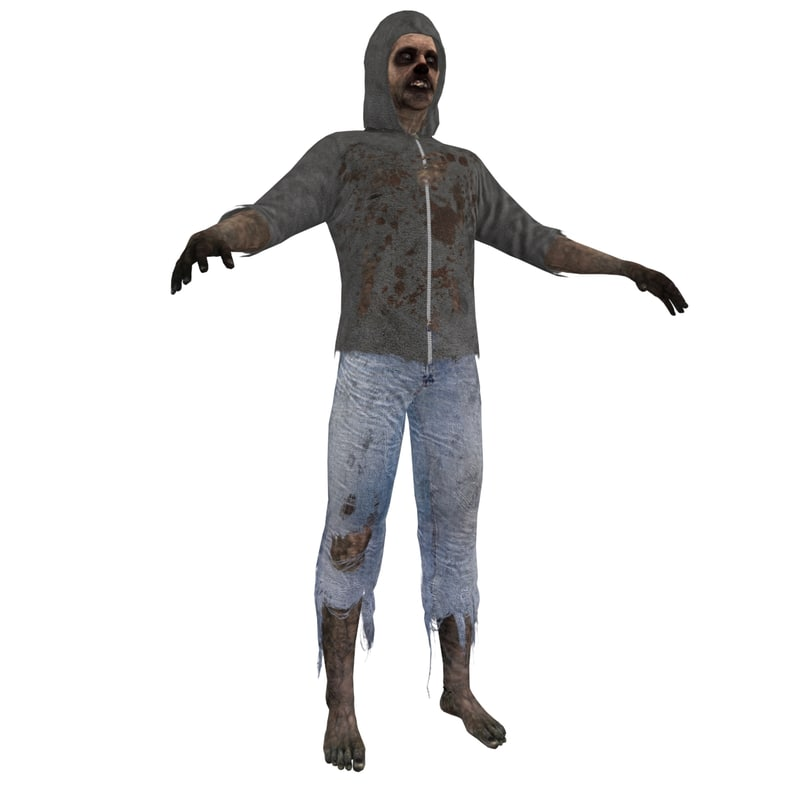 3d model zombie 3