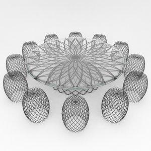 3d model mesh outdoor furniture 1
