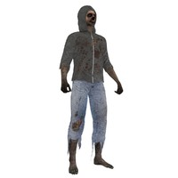 3d max rigged zombie 3