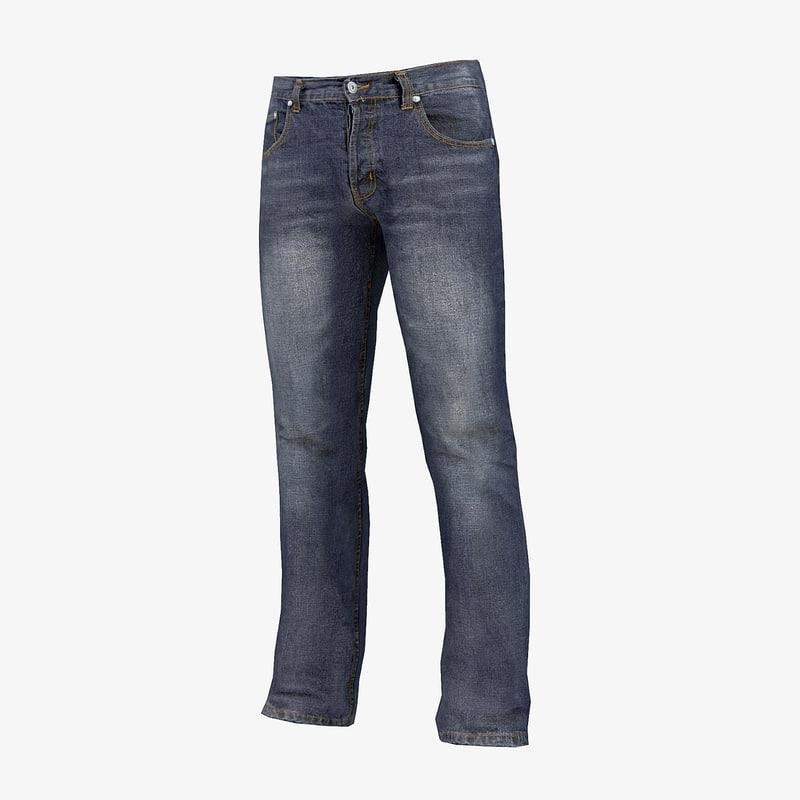 3d model jeans