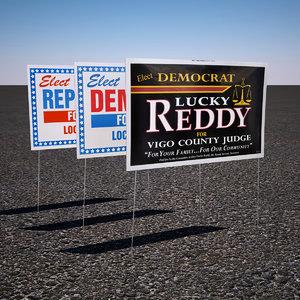 3d model political yard sign