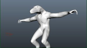 3d monster reptile