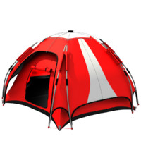 3ds realistic camping tent