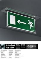 3d industrial lamp evacuation 2