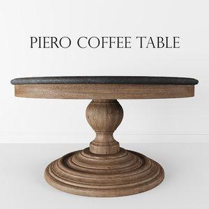 3ds max coffe table piero