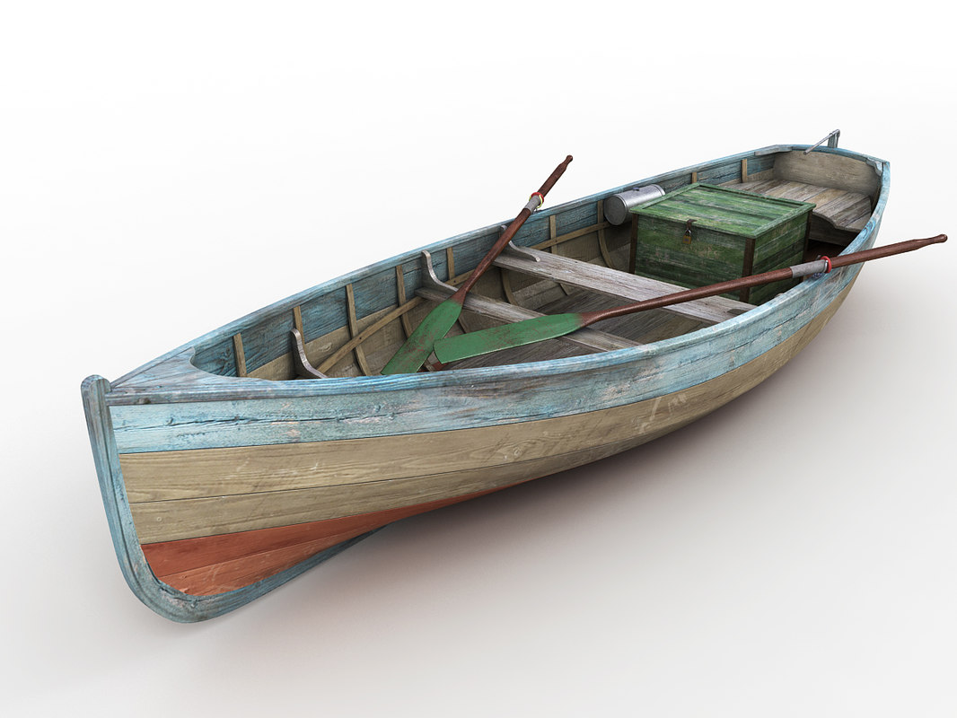3d wood fishing boat