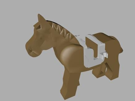 3d model lego horse saddle