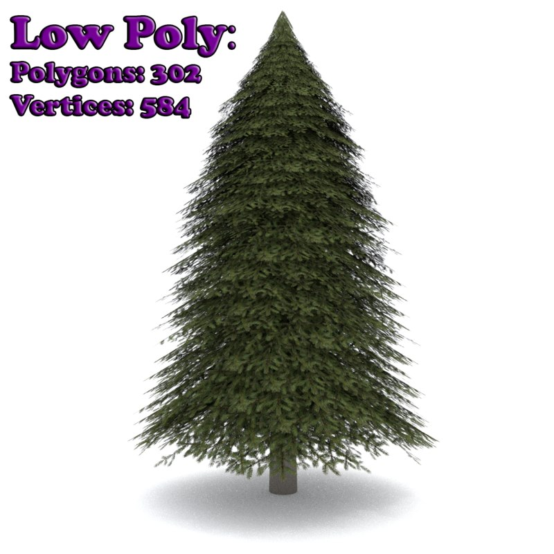 3ds max realistic fir tree 1