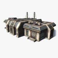3d sci-fi building