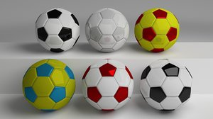 3d footballs pack