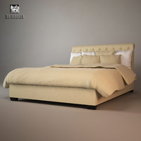 baker paris bed 3d model