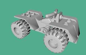 3ds max realistic lego quad bike