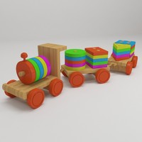 max educational wooden toy train