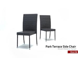 3ds max park terrace chair