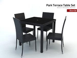 3ds park terrace table set