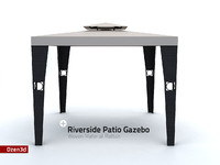 3ds riverside patio gazebo