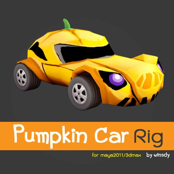 3d model car pumpkin