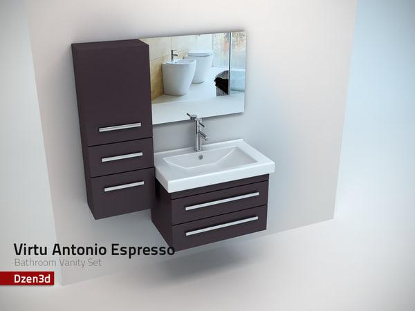 virtu antonio bathroom vanity 3d model