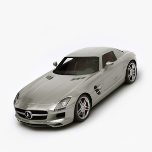 mercedes benz sls amg 3d 3ds