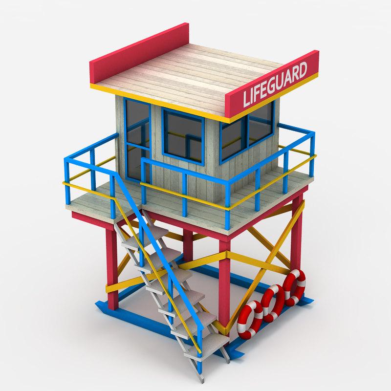 3d lifeguard tower