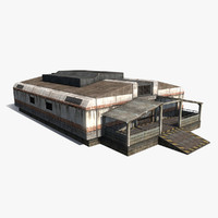 sci-fi building 3ds