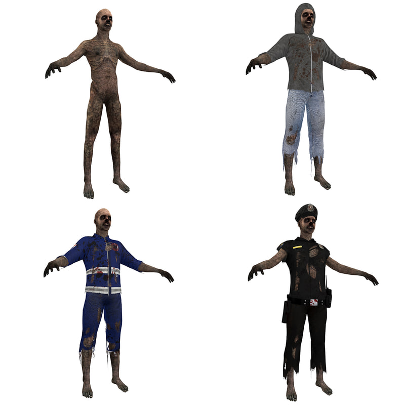 3d model pack zombies