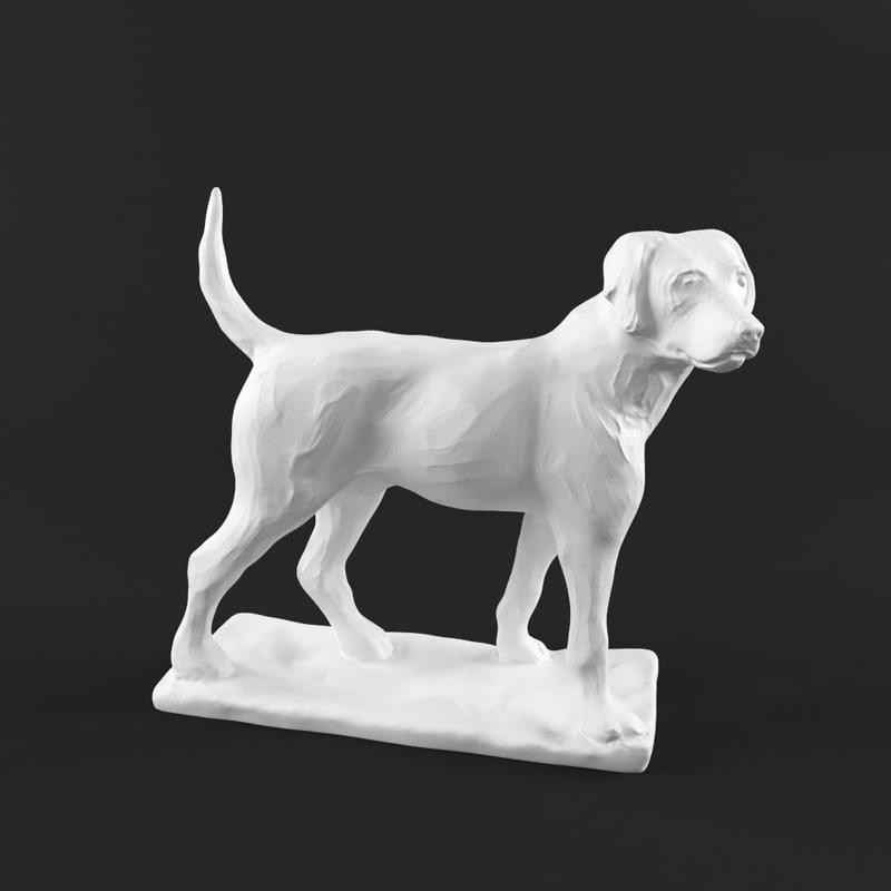 sculpture dog 3d model