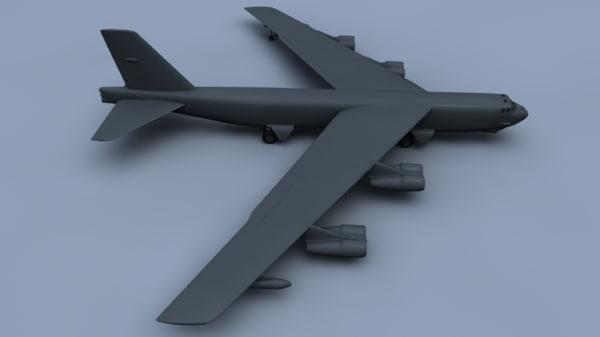 stratofortress bomber 3d model