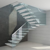 Modern glass stairs - Three different versions