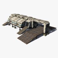 sci-fi building 3d max