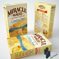 miracle maize cornbread mix 3d model
