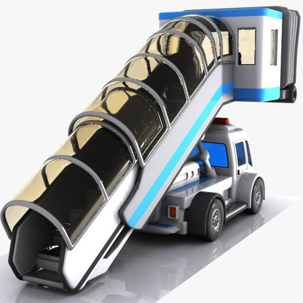 3d model cartoon stair car