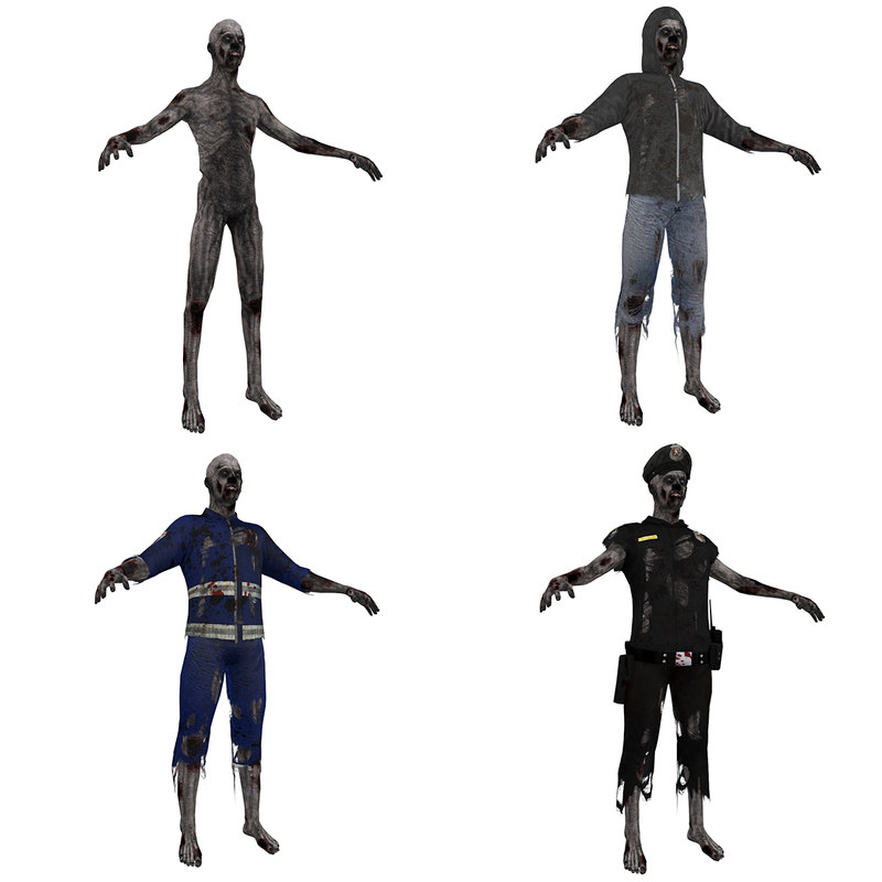 3d pack zombies