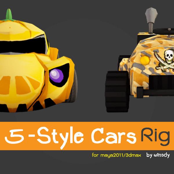 rig style 5 car 3d model