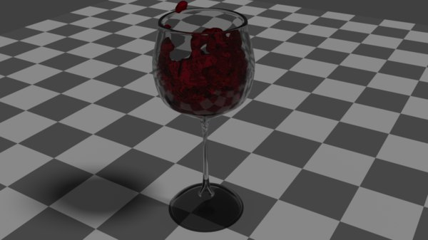 3d model of wine glass