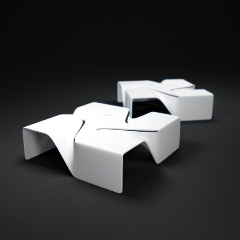 t-vertigo-side-table 3d model