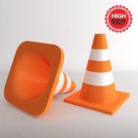 3ds max 2 cones traffic
