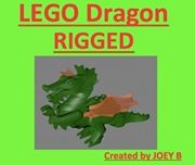 realistic lego dragon rigged 3d 3ds